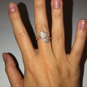 yours truly pave heart ring